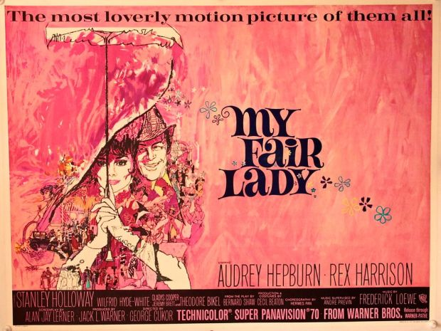 My Fair Lady UK Quad on Linen